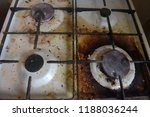 dirty gas burner close up | Shutterstock . vector #1188036244