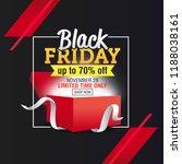black friday sale banner... | Shutterstock .eps vector #1188038161