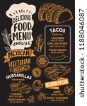 mexican menu template for... | Shutterstock .eps vector #1188046087