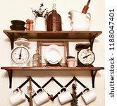 french  farmhouse coffee bar... | Shutterstock . vector #1188047401