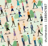 group of people walking and... | Shutterstock .eps vector #1188047887