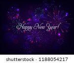 happy new year illustration... | Shutterstock .eps vector #1188054217