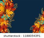 happy thanksgiving calligraphy... | Shutterstock .eps vector #1188054391