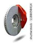 disc brake isolated on white...   Shutterstock . vector #1188058414