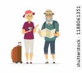 senior tourists   cartoon...   Shutterstock . vector #1188061351