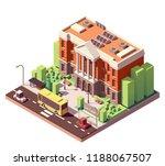 vector isometric old university ... | Shutterstock .eps vector #1188067507