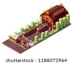 vector isometric old tram depot ... | Shutterstock .eps vector #1188072964