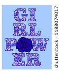 girl power  feminism t shirt... | Shutterstock .eps vector #1188074017