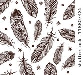 Vintage Feather Pattern For...