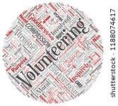 vector conceptual volunteering  ... | Shutterstock .eps vector #1188074617