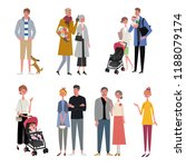 an image set of the whole family | Shutterstock .eps vector #1188079174