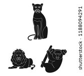 different animals black icons... | Shutterstock . vector #1188094291