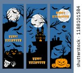 halloween banners leaflets... | Shutterstock .eps vector #1188101584