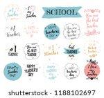 happy teacher's day labels ... | Shutterstock .eps vector #1188102697