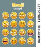 emoji collection. funny comic... | Shutterstock .eps vector #1188103264