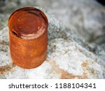 Old Tin Can With Rust