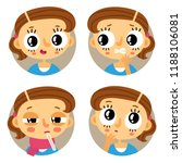 cute set of four young brown... | Shutterstock .eps vector #1188106081