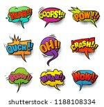 comic colorful blank speech... | Shutterstock .eps vector #1188108334