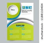 flyer template. design for a... | Shutterstock .eps vector #1188110404