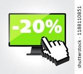sale  markdown  discount 20... | Shutterstock . vector #1188110851