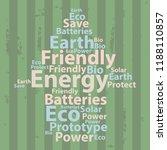 text cloud. eco wordcloud.... | Shutterstock . vector #1188110857