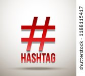 hashtag red sign icon...   Shutterstock .eps vector #1188115417