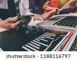 working team meeting concept ...   Shutterstock . vector #1188116797