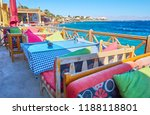 terrace of coastal cafe with a... | Shutterstock . vector #1188118801