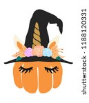 cute kawaii little pumpkin head ... | Shutterstock .eps vector #1188120331