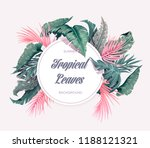 bright tropical background with ... | Shutterstock .eps vector #1188121321