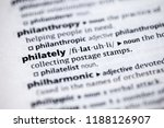 close up to the dictionary... | Shutterstock . vector #1188126907