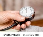 measuring arterial blood... | Shutterstock . vector #1188129481