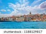 galata tower  galata bridge ... | Shutterstock . vector #1188129817