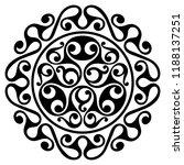 polynesian tattoo design.... | Shutterstock .eps vector #1188137251
