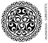 polynesian tattoo design.... | Shutterstock .eps vector #1188137371
