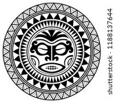 polynesian tattoo design mask.... | Shutterstock .eps vector #1188137644