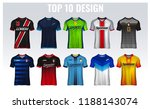 t shirt sport design template ... | Shutterstock .eps vector #1188143074