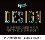 """design"" vintage 3d inline... | Shutterstock .eps vector #1188145354"