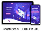 business website template... | Shutterstock .eps vector #1188145381