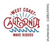 west coast california wave... | Shutterstock .eps vector #1188145441