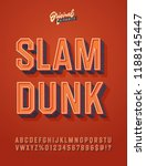 'slam Dunk' Vintage 3d...