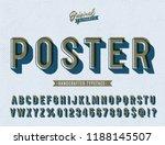 'poster' vintage sans serif... | Shutterstock .eps vector #1188145507