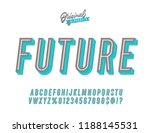 """future"" vintage 3d fresh... | Shutterstock .eps vector #1188145531"