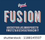 """fusion"" vintage 3d inline...   Shutterstock .eps vector #1188145537"