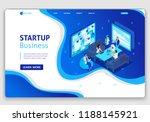 website isometric landing page... | Shutterstock .eps vector #1188145921