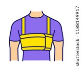 surgical men rib belt color... | Shutterstock .eps vector #1188149917