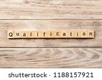 qualification word written on... | Shutterstock . vector #1188157921