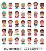 set of 35 avatar icons | Shutterstock .eps vector #1188159844