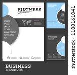 vector background brochure... | Shutterstock .eps vector #1188161041
