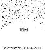 a flock of flying birds. vector | Shutterstock .eps vector #1188162214